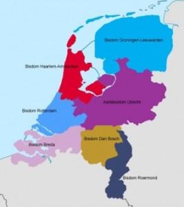 Kaart nederland bisschoppen