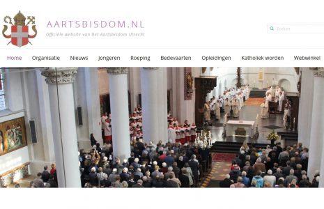 Vernieuwde website voor het Aartsbisdom Utrecht