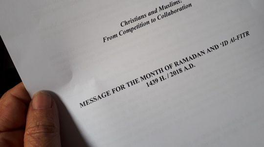 Boodschap uit het Vaticaan ter gelegenheid van Ramadan: van competitie naar samenwerking!