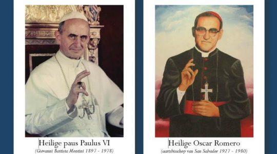 Zondag 14 oktober heiligverklaring paus Paulus VI en aartsbisschop Oscar Romero