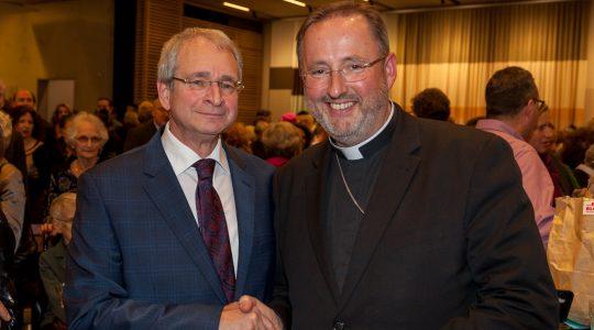 Mgr. Woorts bij jubileum rabbijn Ten Brink van de Liberaal Joodse Gemeente in Amsterdam