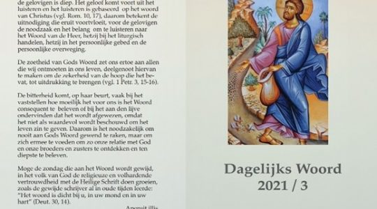 Katholieke Bijbel Stichting publiceert het derde deel van 'Dagelijks Woord'